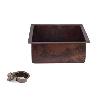 20 x 18 Copper Rectangle Kitchen/Bar Sink with 3.5 Disposal Drain