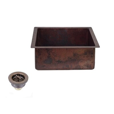 20 x 18 Copper Rectangle Kitchen/Bar Sink with 3.5 Regular Drain