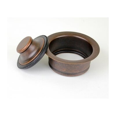 Copper 3 1/2 in Copper Sink Kitchen/Bar/Prep Garbage Disposal Flange with Stopper