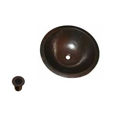 Copper Metal Circular Undermount Bathroom Sink
