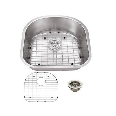 23.25 x 20.88 Stainless Steel 18 Gauge Single Bowl Kitchen Sink