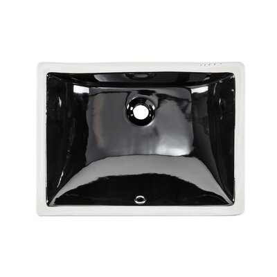 Glazed Rectangular Undermount Bathroom Sink with Overflow Sink Finish: Black