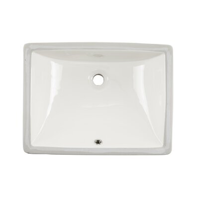 Glazed Vitreous China Rectangular Undermount Bathroom Sink with Overflow Sink Finish: Biscuit