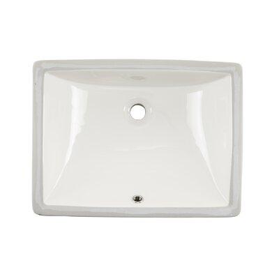Glazed Rectangular Undermount Bathroom Sink with Overflow Sink Finish: Biscuit