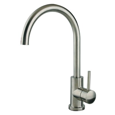 Single Handle Single Hole Gooseneck Kitchen Faucet