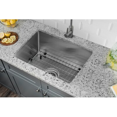 Radius 16 Gauge Stainless Steel 15 x 20 Single Bowl Undermount Bar Sink