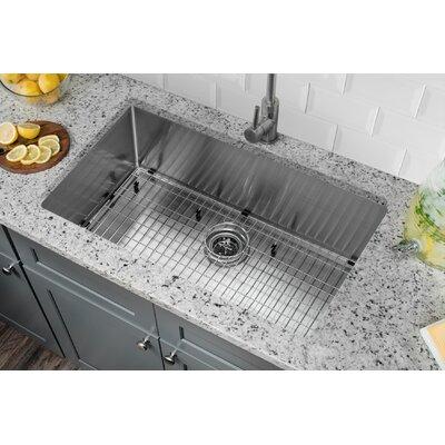 Radius 16 Gauge Stainless Steel 32 x 19 Single Bowl Undermount Kitchen Sink