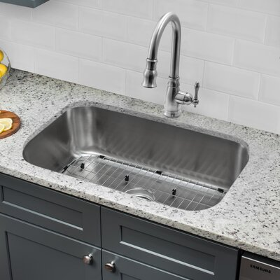 30 x 18 Single Bowl Undermount Kitchen Sink with Faucet