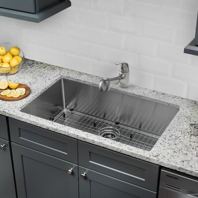 32 x 19 Undermount Stainless Steel Kitchen Sink with Faucet