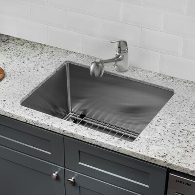 15 x 20 Single Bowl Undermount Bar Sink with Faucet