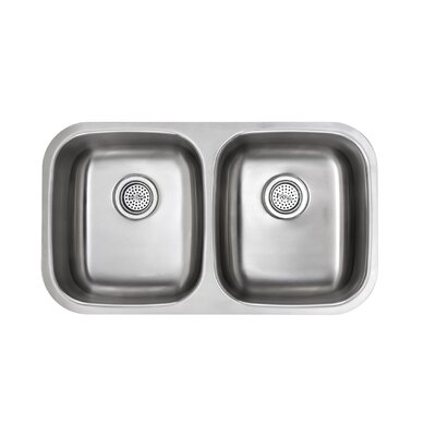 32.25 x 18.5 Double Bowl Kitchen Sink