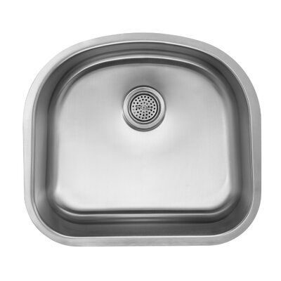 16 Gauge Stainless Steel 23.25 x 20.88 Undermount Kitchen Sink