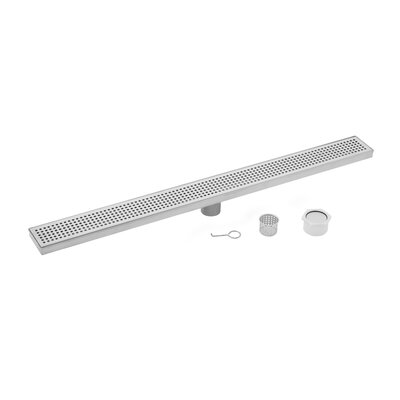 Stainless Steel Square Grate Linear 2 Linear Shower Drain