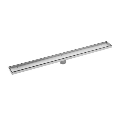 Stainless Steel Tile Insert Linear 2 Tile In Shower Drain