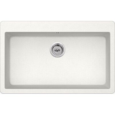 33 x 20.86 Quartz Single Bowl Kitchen Sink Finish: Alpine White