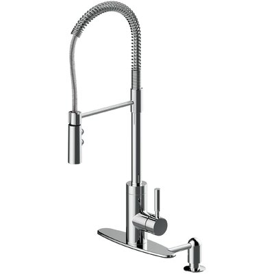 16 Gauge Stainless Steel 23.44 x 17.75 Undermount Bar Sink with Pull Out Faucet and Soap Dispenser Faucet Finish: Polished Chrome