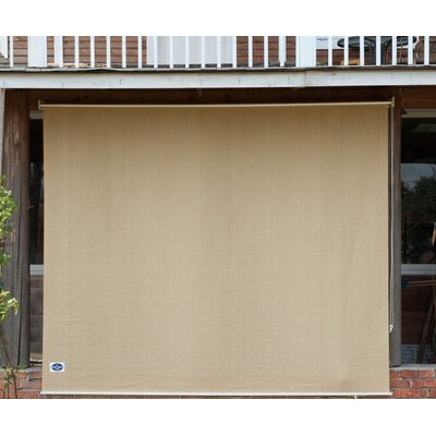 Semi Sheer Sand Outdoor Roller Shade with Installation Hardware Kit