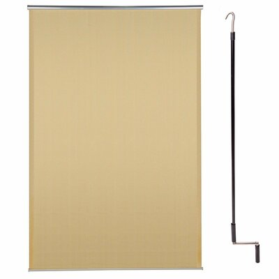 Exterior Cordless Semi Sheer Roller Shade Blind Size: 72W x 96L, Color: Desert