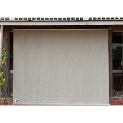 Exterior Cordless Semi Sheer Roller Shade Blind Size: 72W x 72L, Color: Seasame