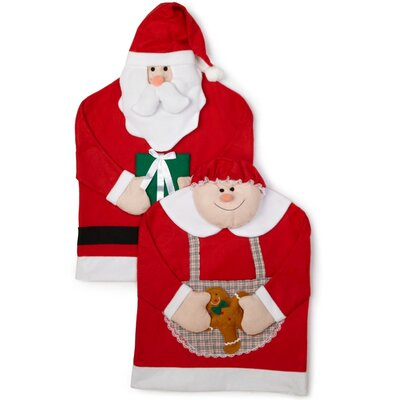 Mr. and Mrs. Santa Claus Armchair Slipcover