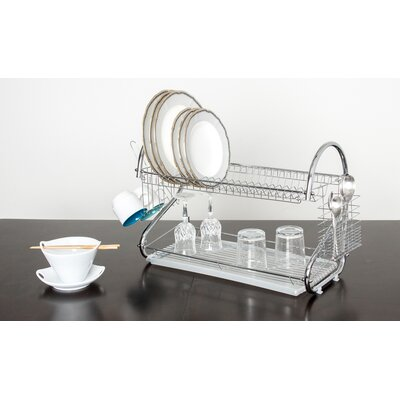 Elegant 2 Tier Stainless Steel Dish Drainer