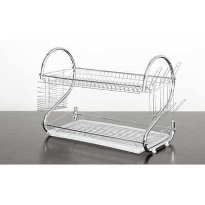 Elegant 2 Tier Stainless Steel Dish Rack/Dish Drainer MW1356