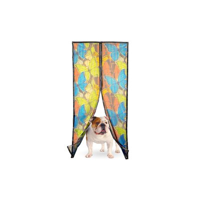 Georgia Magic Mesh Magnetic Screen Door with Butterfly Style Opening Size: 2 Magic Mesh Butterfly Print