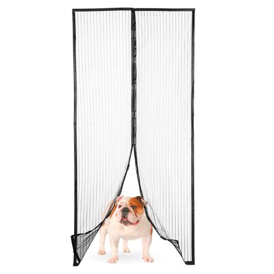 Magic Mesh Magnetic Screen Door with Butterfly Style Opening Size: 1 Magic Mesh Screen Door (Plain)
