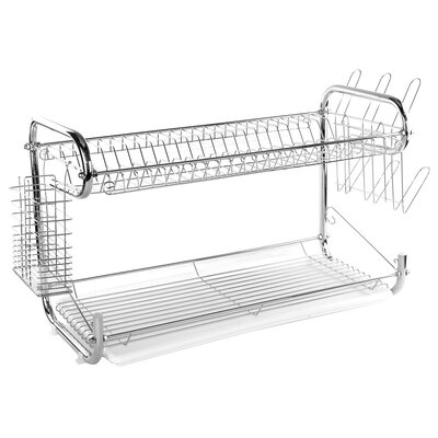 2 Tier Stainless Steel Dish Drainer Rack