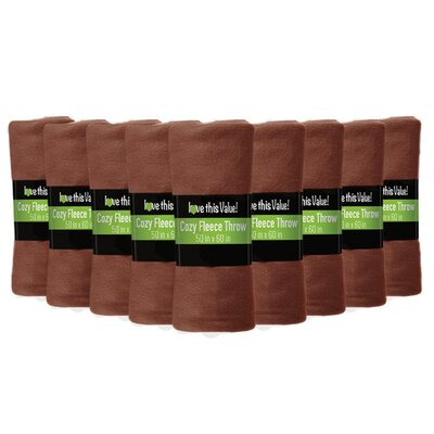 Soft Warm Fleece Throw Blanket Color: Brown