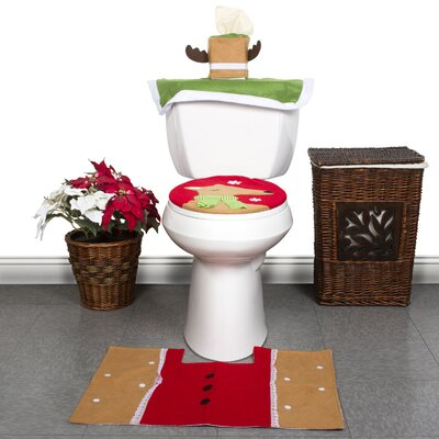 Christmas 3 Piece Bath Mat Set