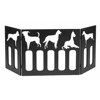 Freestanding Wood Dog Gate