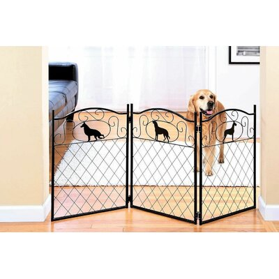 Freestanding Metal Dog Gate