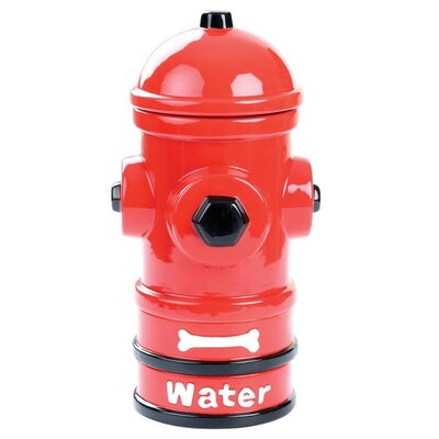 Bright Hydrant Dog Feeding 4 Piece Ceramic Dog Bowls