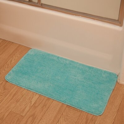Soft Microfiber Bath Rug Color: Turquoise