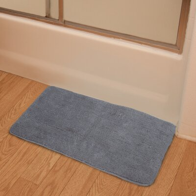 Soft Microfiber Bath Rug Color: Gray