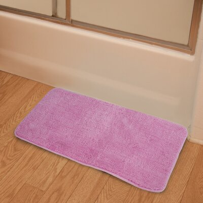 Soft Microfiber Bath Rug Color: Pink