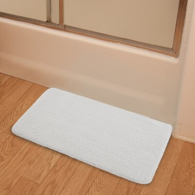 Soft Microfiber Bath Rug Color: White