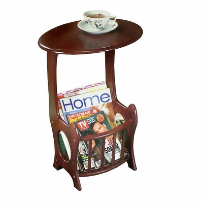Maeystown Oval Wooden Magazine End Table