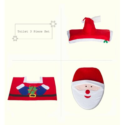 Merry Santa Clause Bathroom Christmas Decoration Toilet Seat Cover