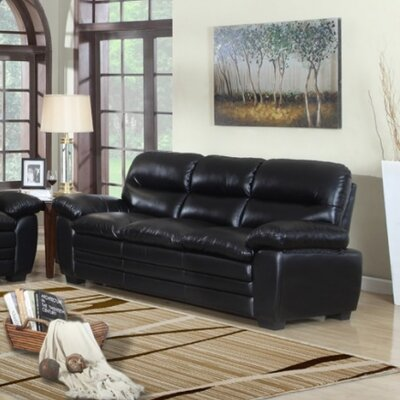 604BL-S MRUS1047 Meridian Furniture USA Leather Sofa