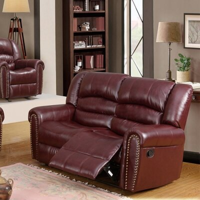 686-L MRUS1050 Meridian Furniture USA Nailhead Reclining Loveseat