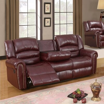 686-S MRUS1053 Meridian Furniture USA Nailhead Reclining Sofa