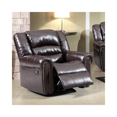 Baxley Manual Rocker Reclining Upholstery: Brown