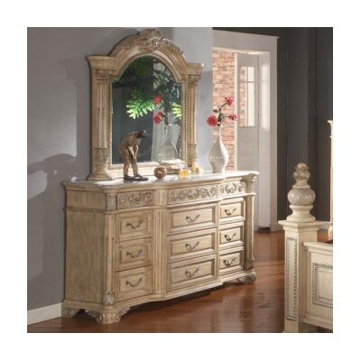 Amber 12 Drawer Dresser with Mirror