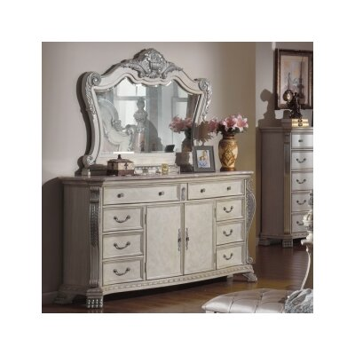 Poirier 8 Drawer Combo Dresser with Mirror ONAW1007