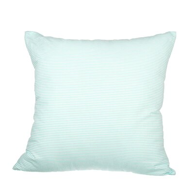 Boehmer Seersucker Cotton Throw Pillow Color: Mint