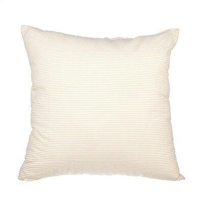 Boehmer Seersucker Cotton Throw Pillow Color: Khaki