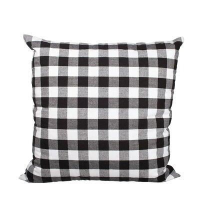 Richmondville Buffalo Check Cotton Throw Pillow Color: Black