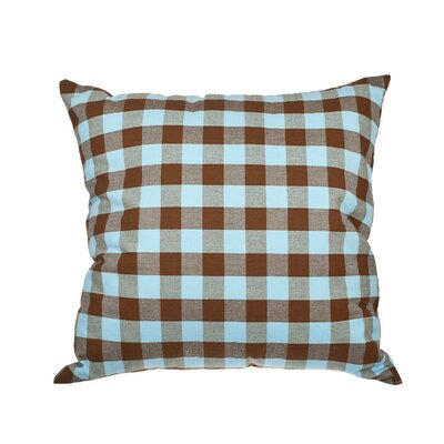 Richmondville Buffalo Check Cotton Throw Pillow Color: Brown/Blue